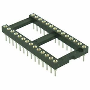 Turned-Pin-DIL-IC-Socket-15-24mm-28-Pin-Pack-of-2