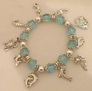 Image Is Loading Blue Dolphin Fish Turtle Sea Horse Cute Charm