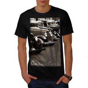 Wellcoda-Classic-Cars-Mens-T-shirt-Retro-Graphic-Design-Printed-Tee