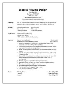 Resume and cv writing services on trent