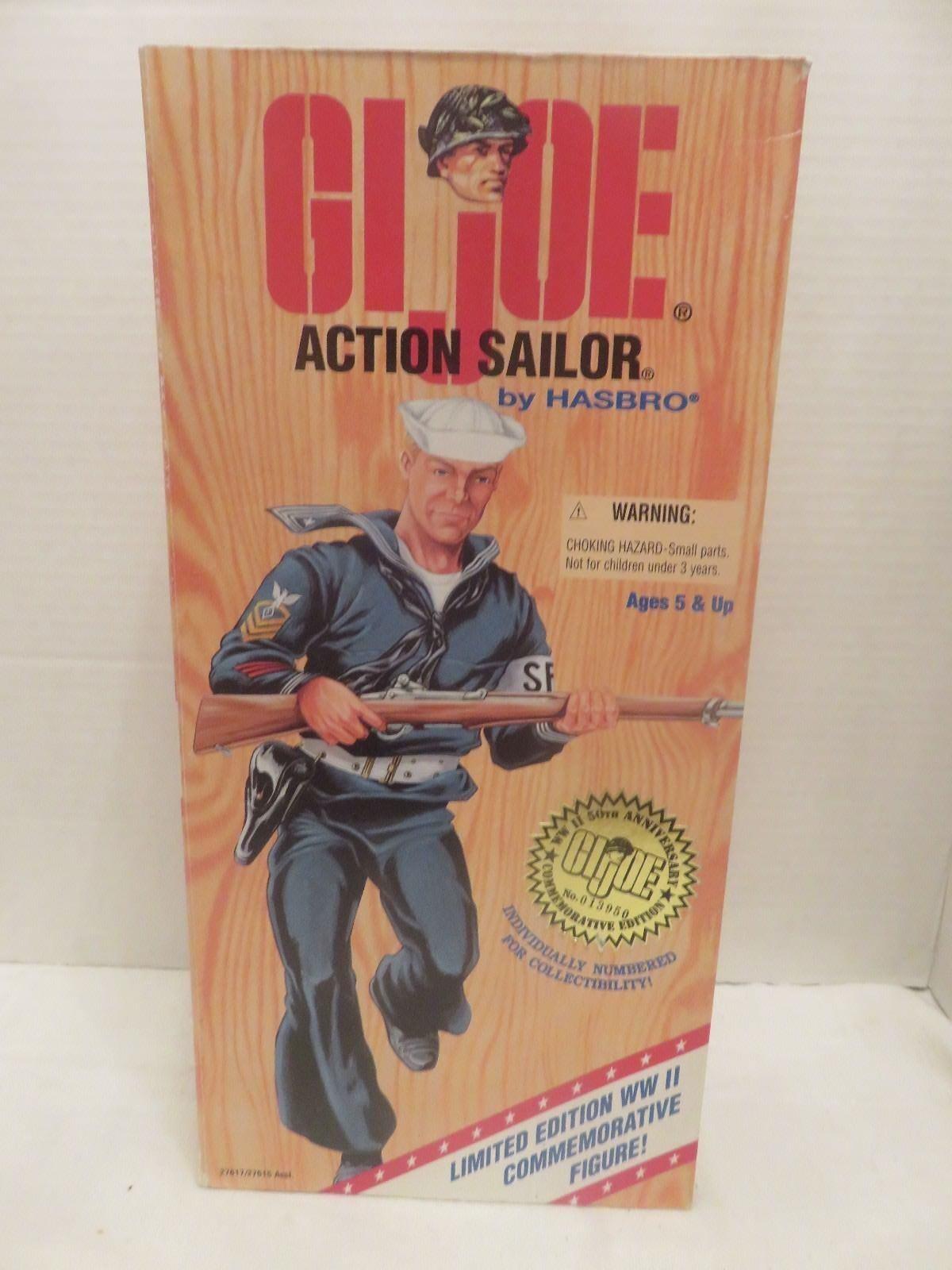 Hasbro GI Joe Action Sailer WW2 12  Commemorative Edition 1995 Dark Hair LE