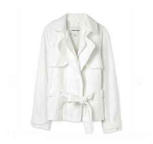 NWT-199-Designer-Country-Road-LINEN-Tie-Waist-JACKET-S-L-WHITE
