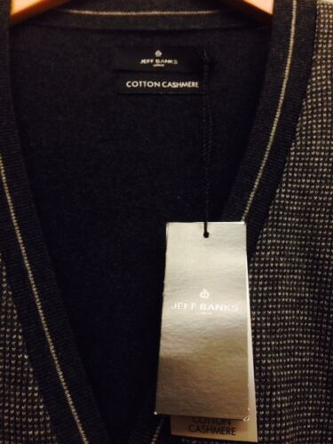 London £45 Size S Rrp Cashmere Jeff Cardigan Grey Banks Cotton Bnwt Dark aqRFwEE