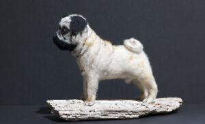Pug-One-of-a-kind-needle-felted-animal-sculpture