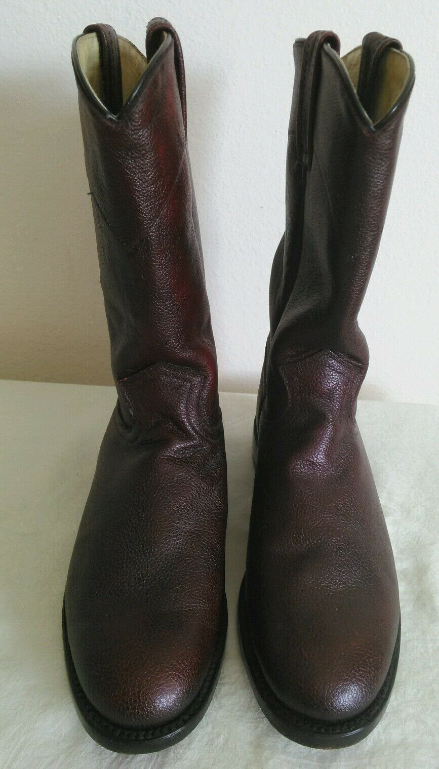New DAN POST Women's Burgundy leather Western Roper Riding Boots Size 7.5 M