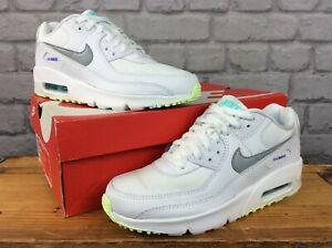 Nike-UK-5-EU-38-AIR-MAX-90-Leather-Junior-Scarpe-da-ginnastica-per-bambini-Donna-RRP-80-EP