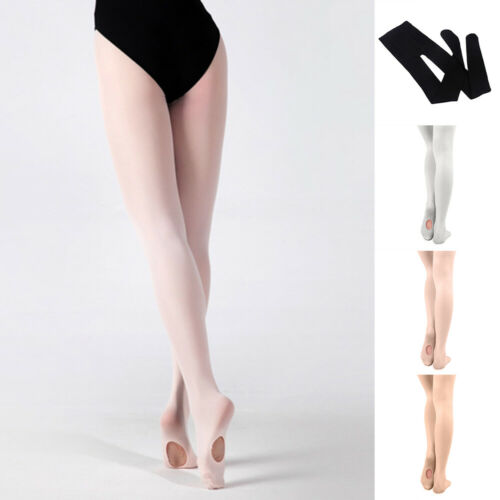 KIDS ADULTS CONVERTIBLE BALLET DANCE STOCKING TIGHTS FOOTED PANTYHOSE FADDISH