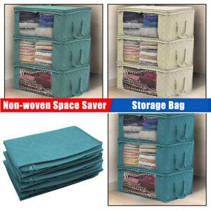 Non-woven-Space-Saver-Clothes-Quilt-Blanket-Storage-Bag-Box-Organizer-Portable