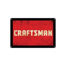 Craftsman Power Tools Decor Wall Art Shop Man Cave Bar Vintage Retro Metal Sign