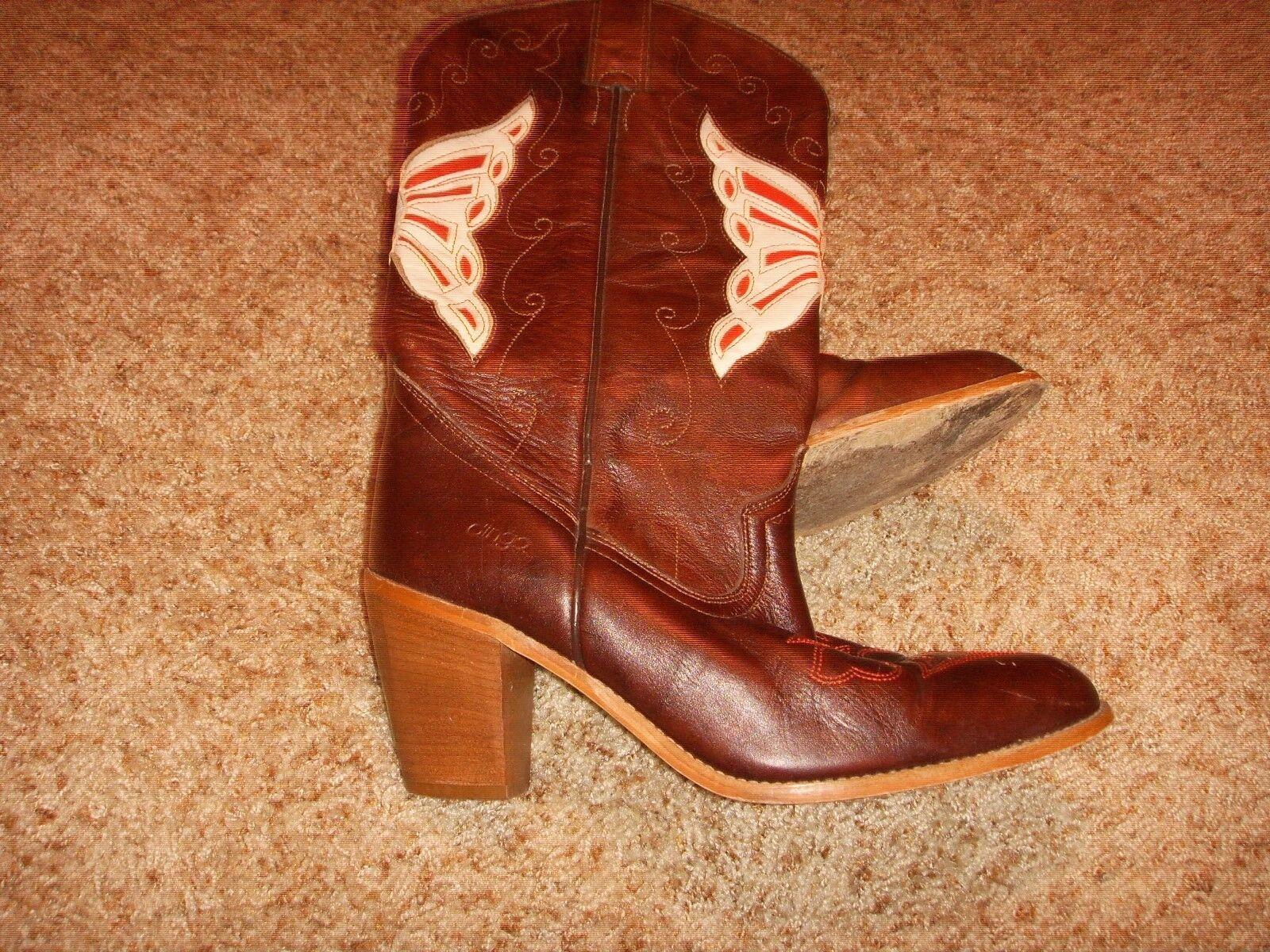 Dingo marrón botas de vaquero D1701 para mujer Talla 8M