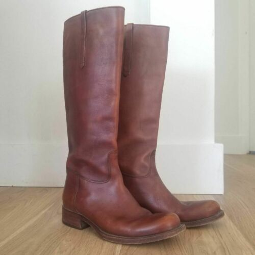 Ralph Lauren Collection Brown Leather Riding Boots