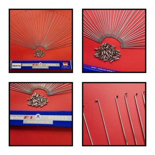 40x Speichen Niro Alpina Fahrrad Silber 2mm inkl.Nippel 130-304mm