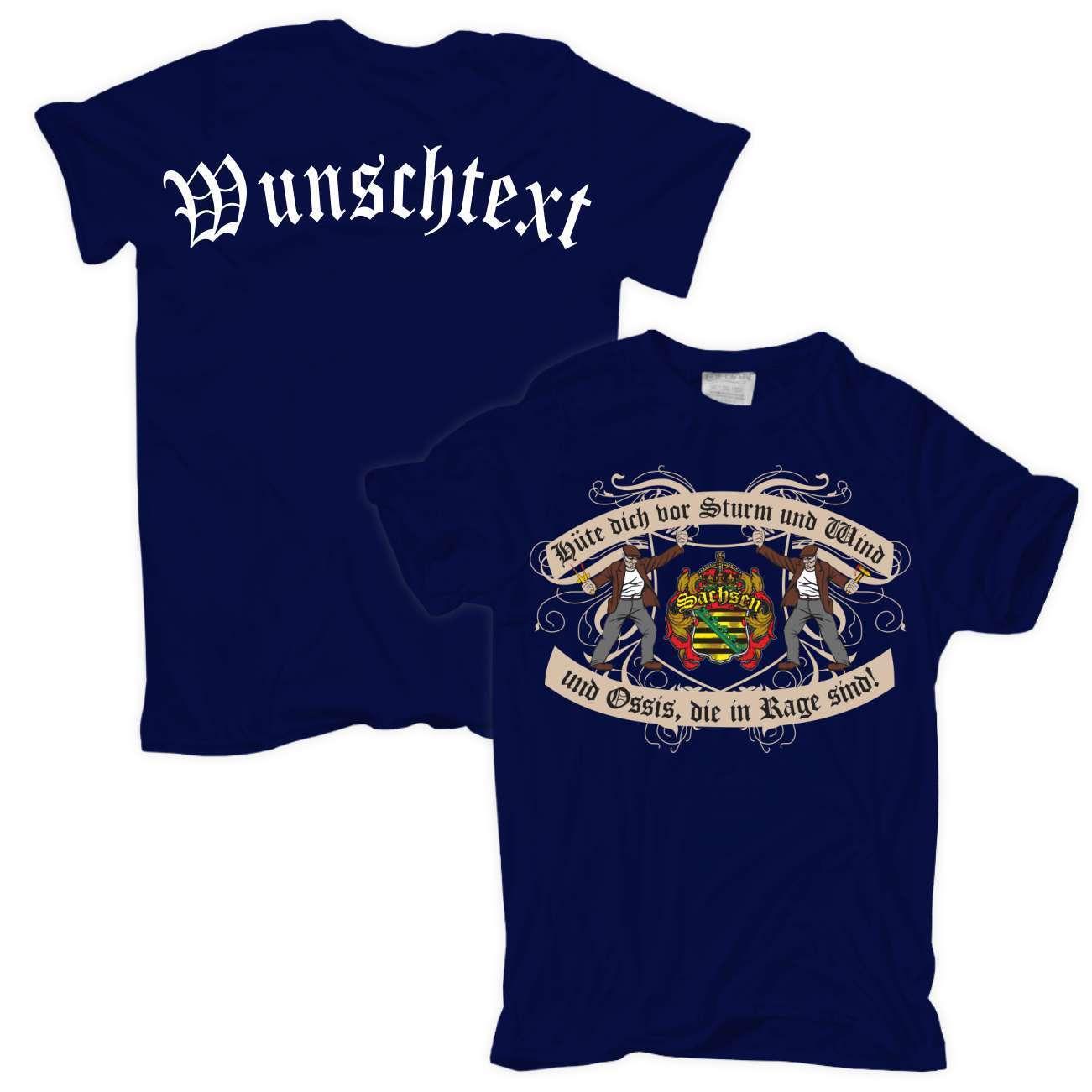 T-Shirt WUNSCHTEXT WUNSCHNAME individuell persönlicher Hüte dich Sachsen Sachsen Sachsen   Große Auswahl    Online Kaufen  bf2377