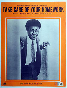 Image result for johnnie taylor take care of your homework