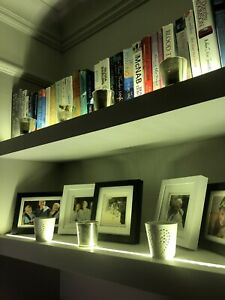 designer fashion 07506 62054 Details about Floating Shelf Kit WITH LED LIGHTING - Chunky & Strong, Width  800mm to 1150mm