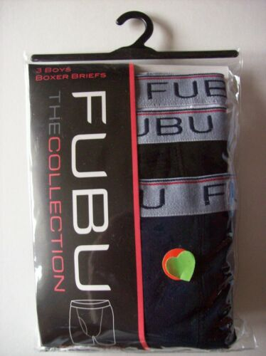 FUBU Boxer Briefs Underwear Underpants 3 Pair Pack BOYS XS S M The Collection