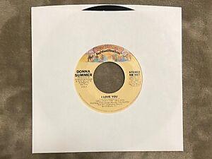Donna-Summer-i-Love-You-1977-45-RPM-NB-907-Buone-Condizioni