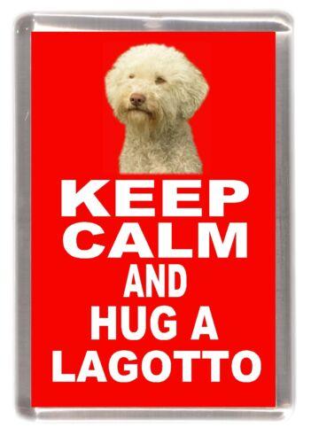 "Lagotto Dog Fridge Magnet /""KEEP CALM AND HUG A LAGOTTO/"" by Starprint"