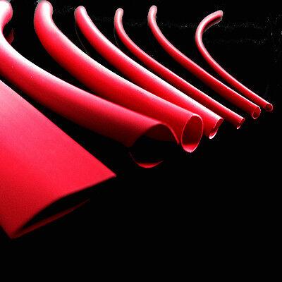 7 x 1m LENGTHS RED HEAT SHRINK TUBING TUBE HEATSHRINK TUBE SLEEVING PACK KIT