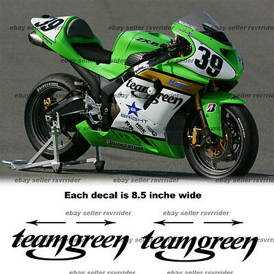 teamgreen decal sticker designed to fit zx6 zx10 motorcycle
