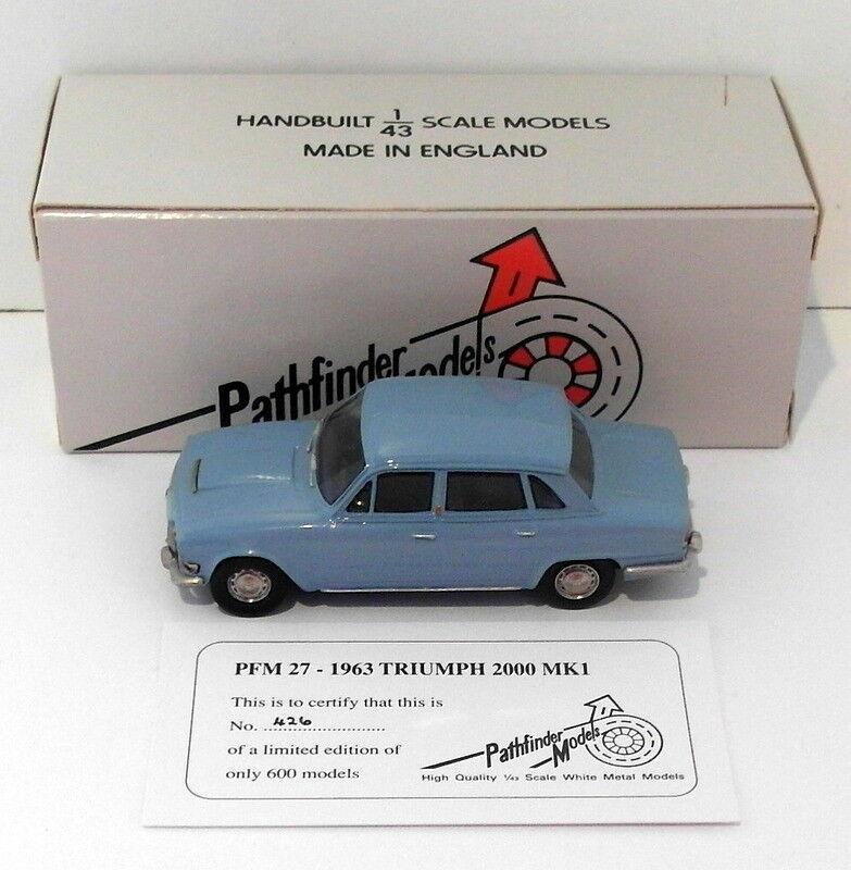 barato Pathfinder Models 1 1 1 43 Scale PFM27 - 1963 Triumph 2000 MK.1 1 Of 600 azul  ordene ahora los precios más bajos