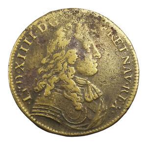 Jeton-Louis-XIV-Franche-Comte-Noblesse-et-villes-Conquete-definitive-de-Besancon
