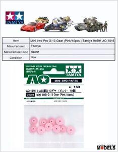 Mini 4wd Pro G-13 Gear (pink/10pcs.) Tamiya 94691 Ao-1016 New Nuovo
