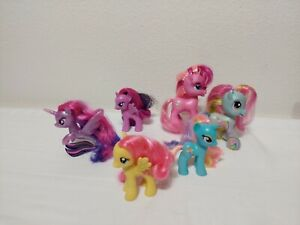My Little Pony Lot of 6 Mixed Ponies Dewdrop Mom Pie Rainbow Dash And More