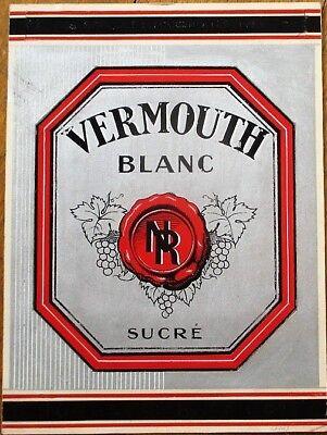 1950s NORWAY Grimstad Thomassen NORSK VERMOUTH Label Tavern Trove