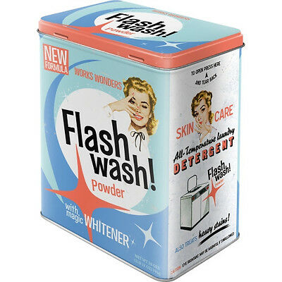 Blechdose Vorratsdose L Flash Wash  Nostalgie  Retro Vintage look