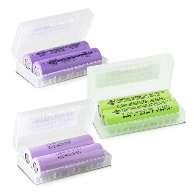 Li-Ion Akku 18650 / 2000 - 3350 mAh / 3,7V Akkubox für E-Zigarette E-Shisha usw.