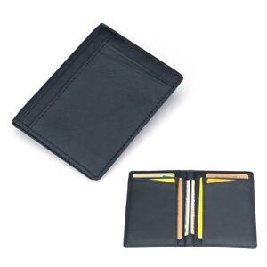 Men PU Leather Wallet Slim Thin Credit Card Holder Mini Money ID Case Purse