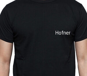 hofner t shirt personalised tee sur name family name. Black Bedroom Furniture Sets. Home Design Ideas
