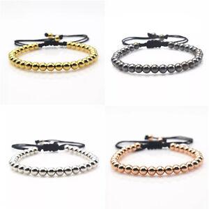 braccialetto-uomo-in-corda-bracciale-donna-acciaio-perline-uomo-nero-sfere-da