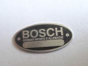Nameplate-Bosch-Horn-Lima-Distributor-Pump-Blanco-S20