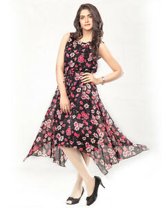 1ee6c09615e Image is loading Summer-Frock-Dress-Holidays-Casual-Everyday-High-Low-