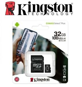 Carte-Memoire-Micro-SD-SDHC-32-Go-Class-10-Kingston-Canvas-Select-Plus-Neuf