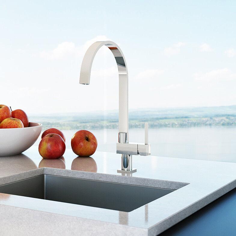 CHRIS BERGEN Design Küchenarmatur verchromt Spültischarmatur Wasserhahn