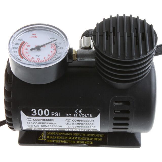 Portable Versatile 12V Car Electric Air Compressor Tire Inflator Pump 300 PSI
