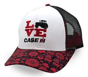 0f4abdc1e53c1 Case IH GIRLS YOUTH  WHITE   BLACK LOVE  Mesh Trademark LOGO Hat Cap ...