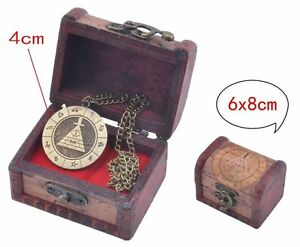 Gravity Falls Bill Cipher Necklace With Jewelry Box Anime BOSS Wood