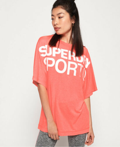 Superdry Womens Active Loose Boyfriend T-Shirt