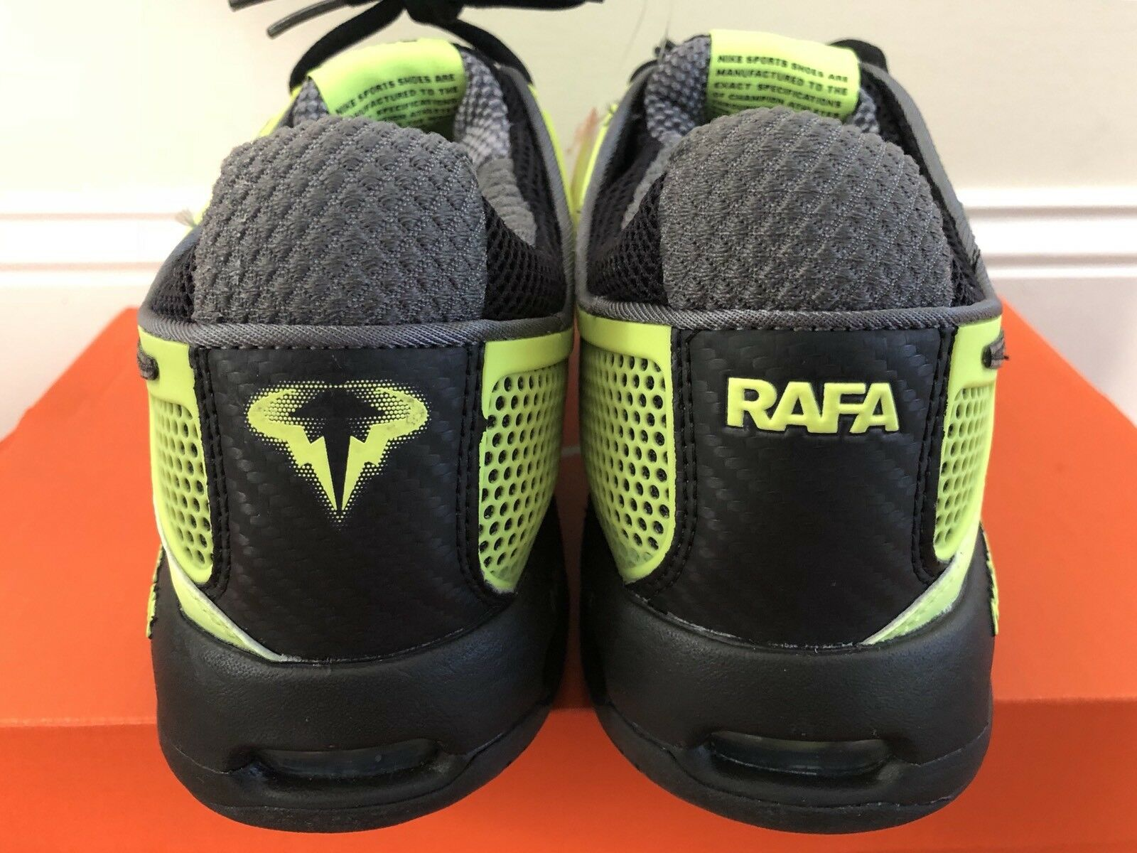 Glow in dark 2010 nike courtballistec 2.3 Nadal tennis shoes federer sz7.5 read