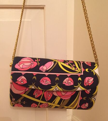Emilio Pucci Purse With Gold Chain