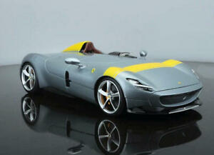 Bburago-1-18-Ferrari-Monza-SP1-Silver-Diecast-Model-Racing-Car-NEW-IN-STOCK