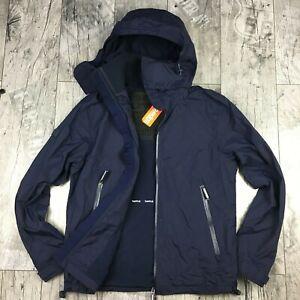 Details zu Superdry Cliff Hiker Herren Gr. L Arctic WINDCHEATER Jacke NEU Blau A6902