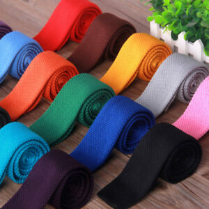 Men-039-s-Fashion-Solid-Woven-Knitted-Knit-Tie-Necktie-Tie-Narrow-Slim-Skinny-New