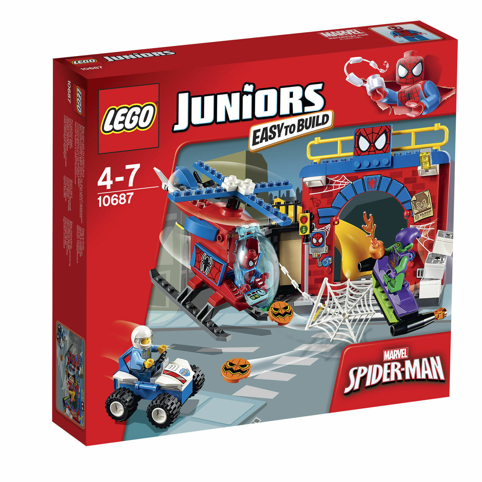 LEGO 4Juniors Spider-Man Versteck 10687 NEU OVP