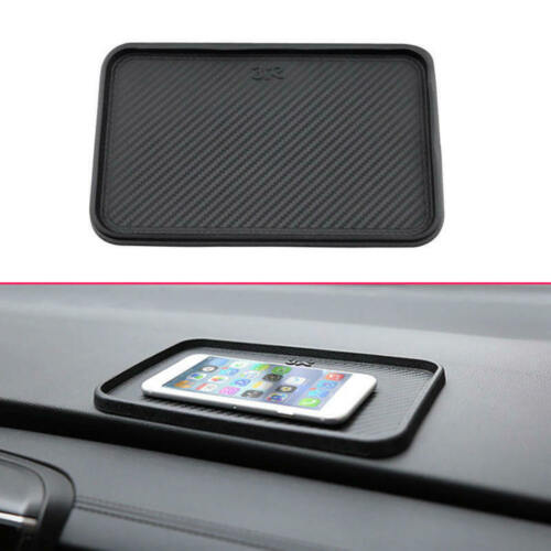 200x128mm Car Front Dashboard Non-Slip Black Storage Catcher Pad Mat Accesso kyj