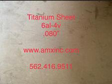 Titanium Sheet 6al 4v 080 X 12 X 12